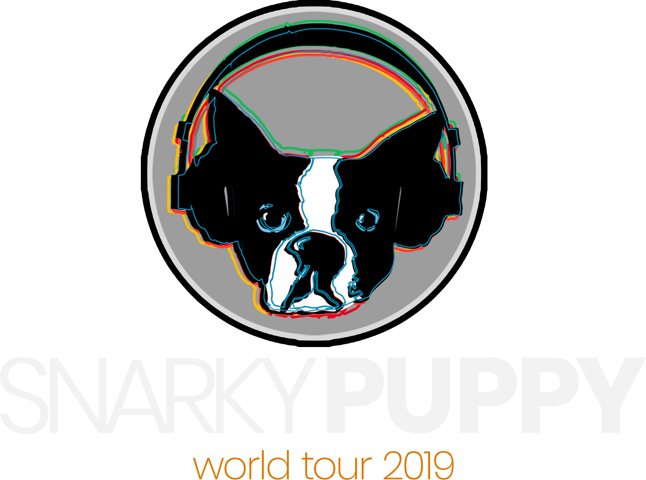 Snarky Puppy Logo that says 'World Tour 2019'